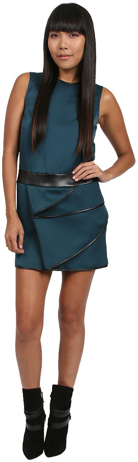 3.1 Phillip Lim Petrol Dress with Cascade in Green