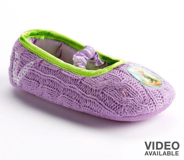 Disney fairies knit slipper - toddler girls