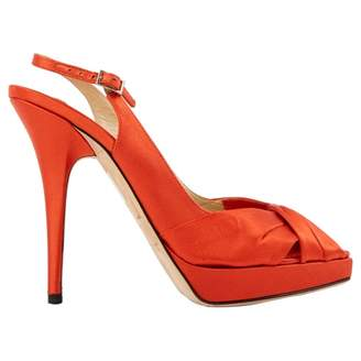 Jimmy Choo Orange Cloth Sandals