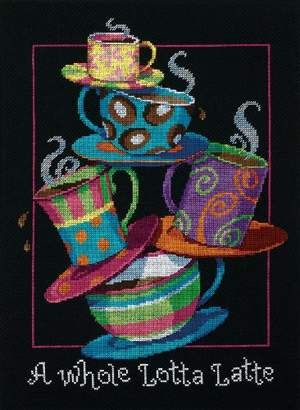 Dimensions 35218 Needlecrafts Counted Cross Stitch, A Whole Lotta Latte
