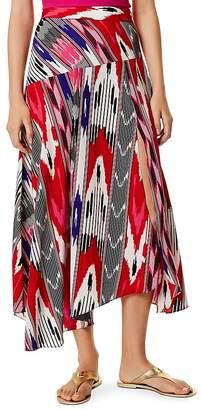 Karen Millen Asymmetric Printed Midi Skirt