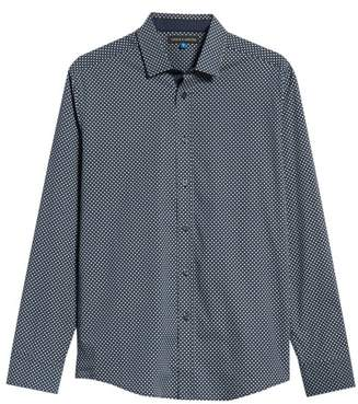 Vince Camuto Regular Fit Geometric Dot Sport Shirt