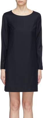 Theory Virgin wool flannel shift dress