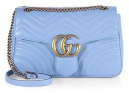 Gucci GG 2.0 Medium Quilted Leather Shoulder Bag $2,300 thestylecure.com