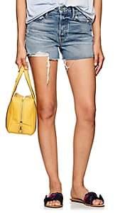 GRLFRND Women's Helena Denim Cutoff Shorts-Dk. Blue