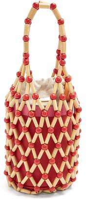 WAI WAI Fefi bamboo and leather bucket bag