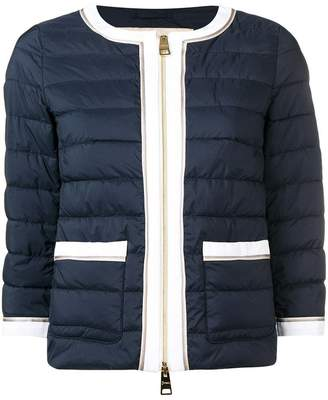 Herno contrast trim quilted jacket