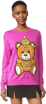 Moschino Long Sleeve Sweater $595 thestylecure.com