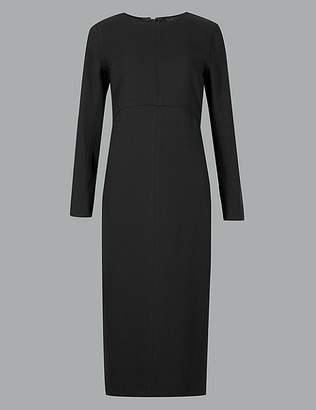 Marks and Spencer Stitch Detail Long Sleeve Midi Dress