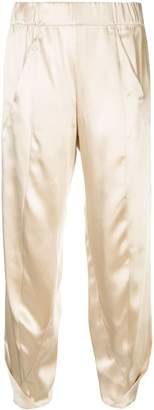 Zero Maria Cornejo elasticated cropped trousers