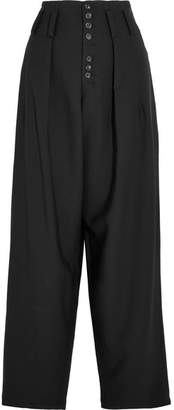 Howard Stretch-gabardine Wide-leg Pants - Black