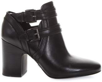 MICHAEL Michael Kors Black Buckled Boots In Leather