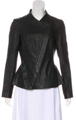 Illia Leather Long Sleeve Jacket