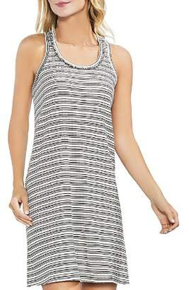 Vince Camuto Fringe Stripe Ribbed Tank Dress