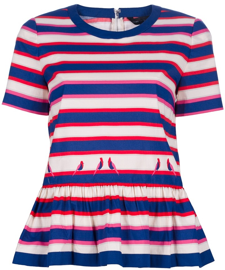 Marc By Marc Jacobs Printed striped top