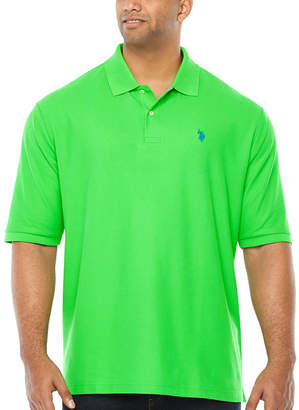 U.S. Polo Assn. USPA Mens Y Neck Short Sleeve Polo Shirt Big and Tall
