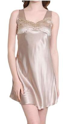 Tymhgt-CA Women s Summer Lingerie Satin Sleepwear Night Dress Lace  Nightshirt 33 M 534a04ed7