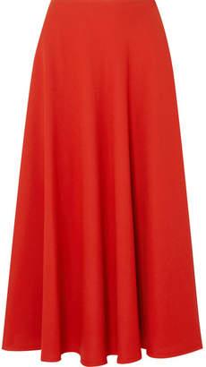Maison Margiela Crepe Midi Skirt - Red