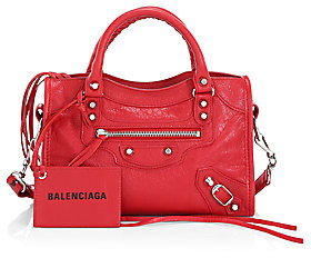 Balenciaga Women's Mini Classic City Leather Satchel