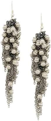 Marc Le Bihan chain and brown earrings