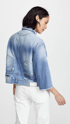 Sjyp Reverse Detail Denim Jacket