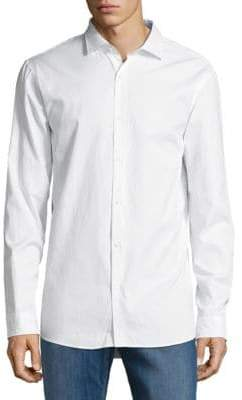 Michael Kors Solid Cotton Button-Down Shirt