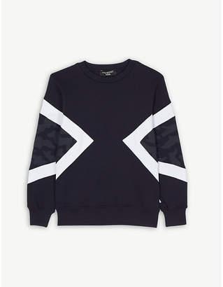 Neil Barrett Camouflage block cotton sweatshirt 4-14 years