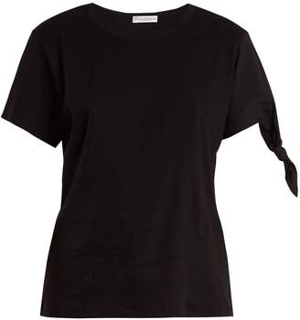 J.W.Anderson Contrast-sleeve ribbed-jersey T-shirt