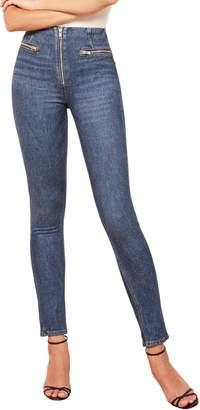 Reformation Niki Zip Pocket Skinny Jeans