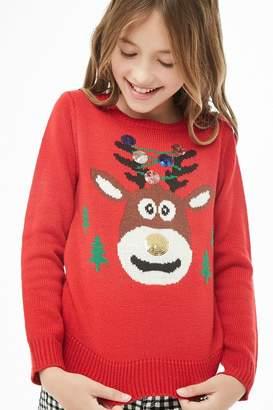 Forever 21 Girls Reindeer Sweater (Kids)