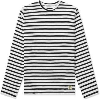 Nudie Jeans Long Sleeve Orvar Graphic Stripe Tee