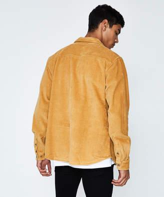 Wrangler Parallels Cord Shirt Mustard