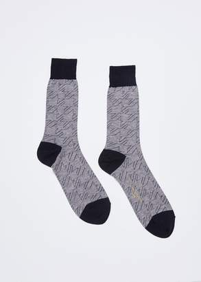 Comme des Garcons Homme Houndstooth Pattern Sock