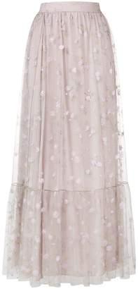 Blumarine floral tulle skirt