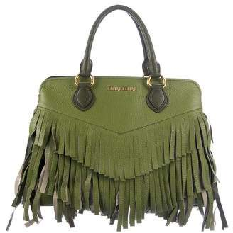 Miu Miu Fringe Leather Satchel