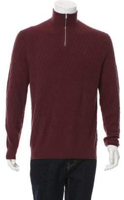 Hermes Cashmere Half-Zip Sweater