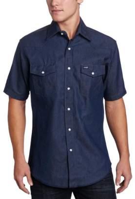 Wrangler Men's Big-Tall Authentic Cowboy Cut Work Western Shirt,/Tall