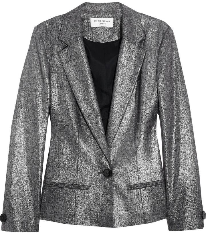 Helene Berman Metallic twill blazer