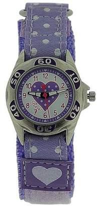 Ravel Girls Lilac Heart Velcro Strap Watch R1507.23