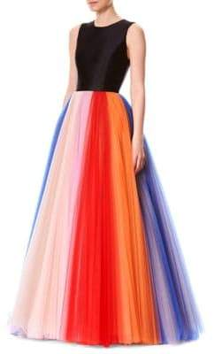 Carolina Herrera Rainbow Tulle Gown
