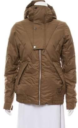 Burton Hooded Zip-Up Coat w/ Tags Tan Hooded Zip-Up Coat w/ Tags