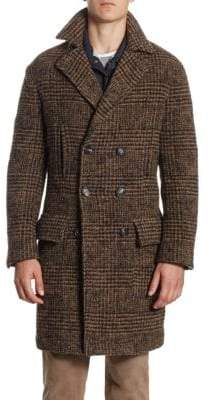 Brunello Cucinelli Plaid Wool Overcoat