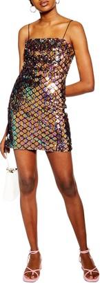 Topshop Sequin Minidress