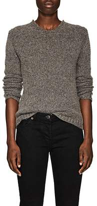 The Row Women's Droi Brushed Cashmere-Blend Sweater - Grey Melange