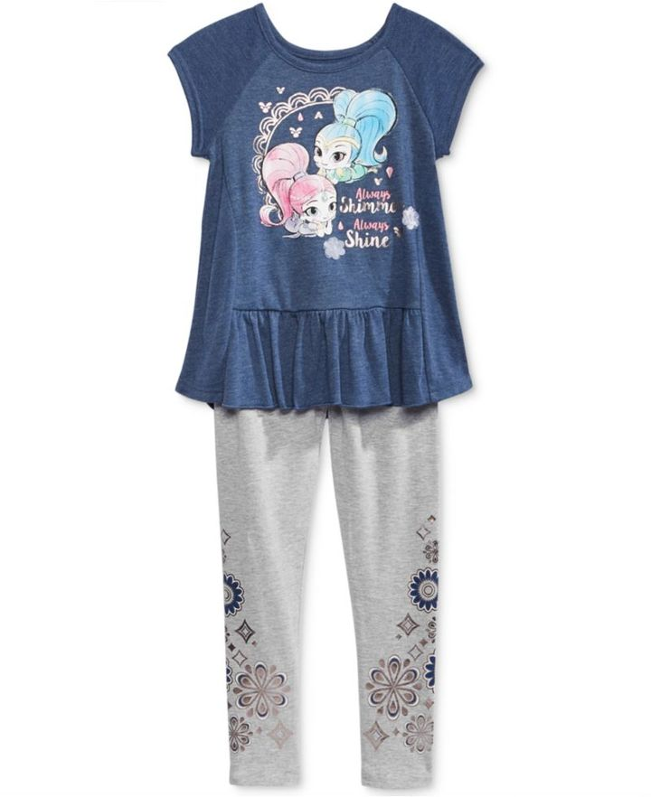 Nickelodeon Nickelodeon's Shimmer and Shine T-Shirt and Leggings Set, Little Girls (4-6X)