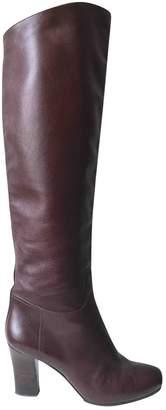 Santoni Brown Leather Boots