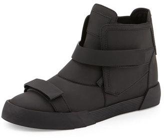 Giuseppe Zanotti Men's Shark Double-Strap Leather Sneaker Boots $825 thestylecure.com