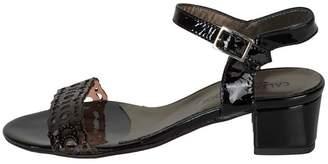 Lady Doc Patent-Black Block-Heel Sandals