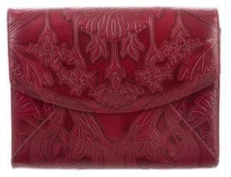 L'Wren Scott Embossed Leather Clutch