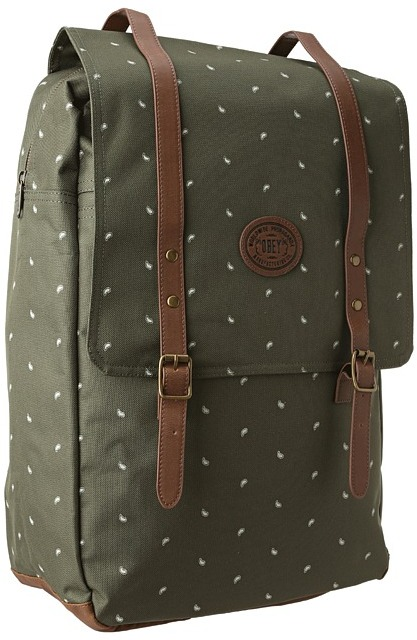 Obey Ballast Map Backpack (Dark Olive) Backpack Bags